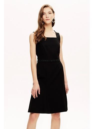 NaraMaxx Sıfır Kollu Siyah Elbise Siyah